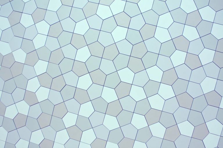 abstract background of wall with geometric ornament